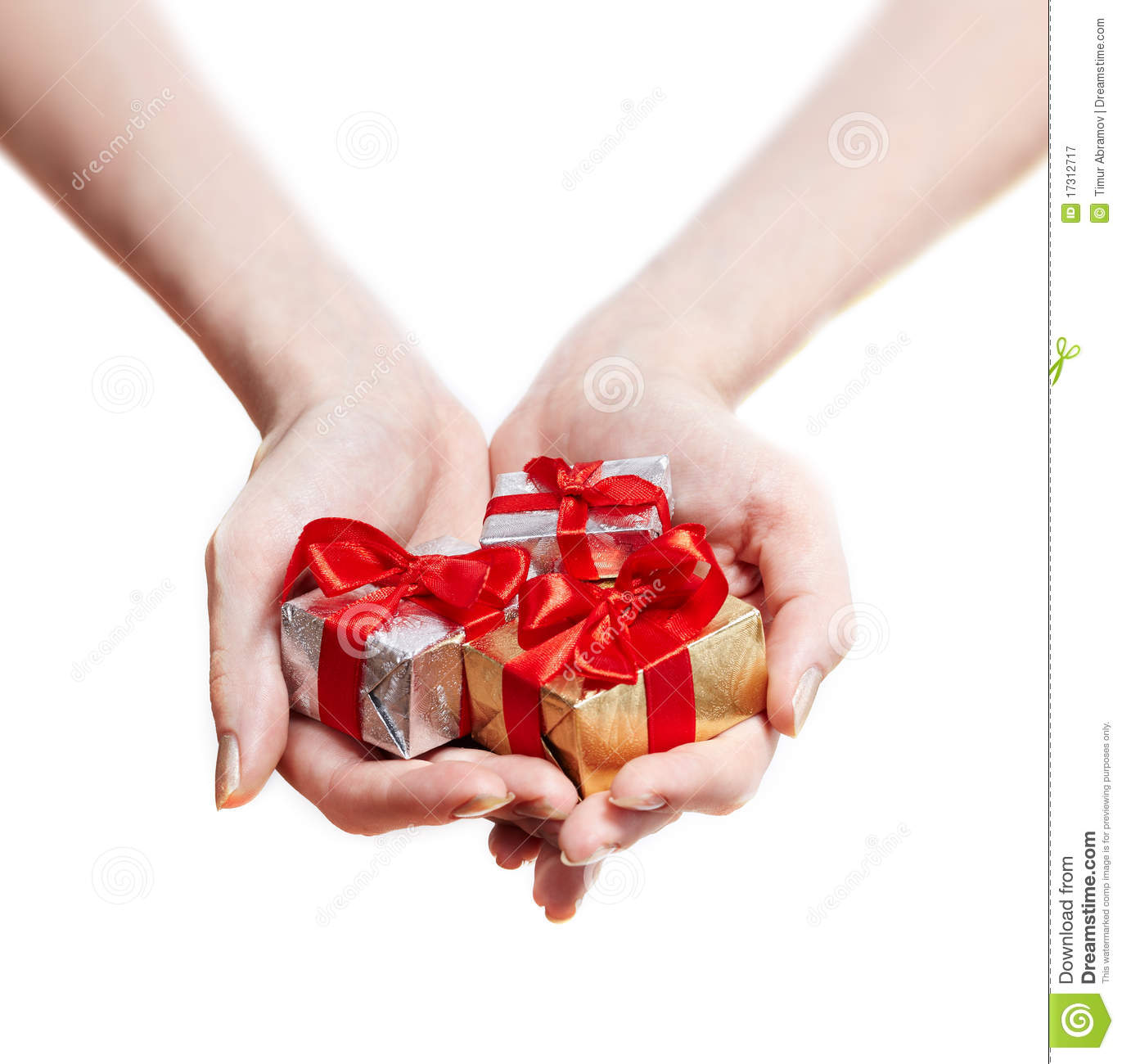 Woman hands giving gifts isolated on white stock image image of royalty free stock photo negle Images