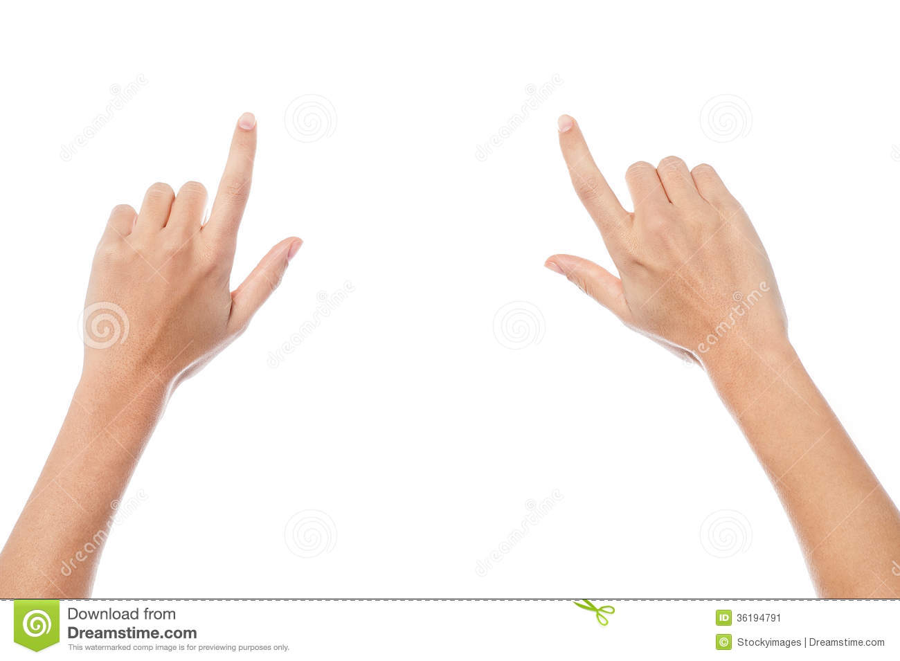 Woman Hands Pointing Something