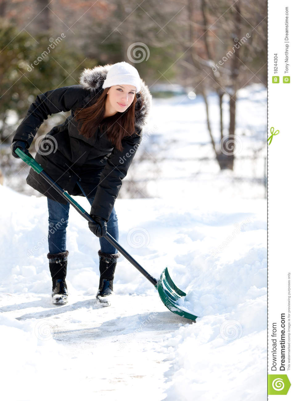 Image result for pretty girl shovelling snow