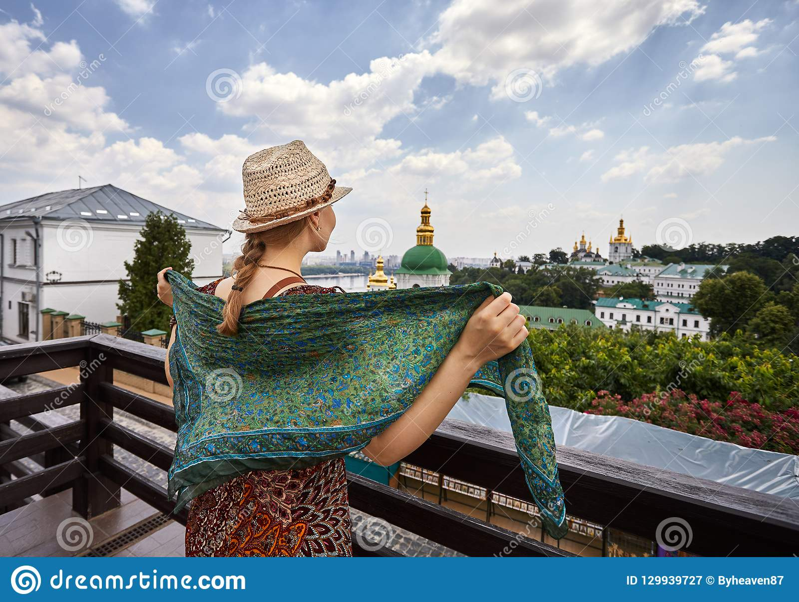 Tourist in Kiev Pechersk Lavra