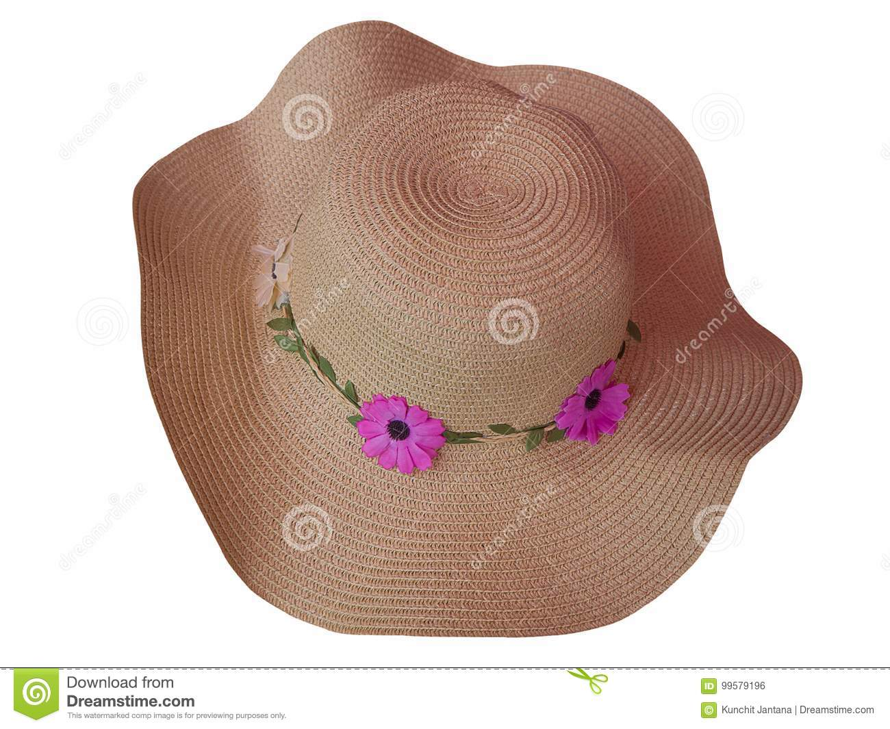 a45f079e12b Brown Woman`s Hat. Clipping Path Stock Photo - Image of silk