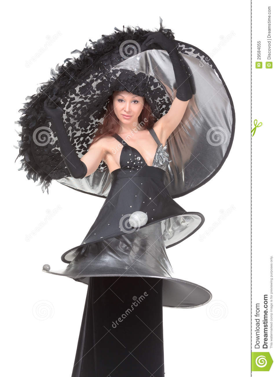 Woman in haute couture fashion royalty free stock photo for Women s haute couture clothing