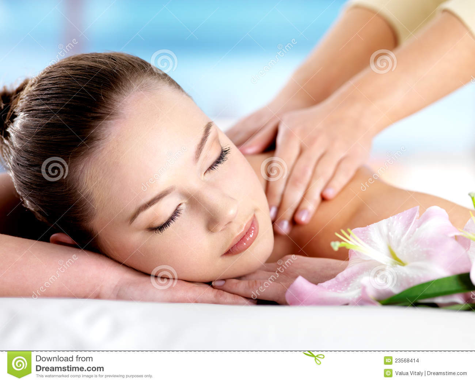 Woman Having Body Massage Stock Images - Image: 23568414