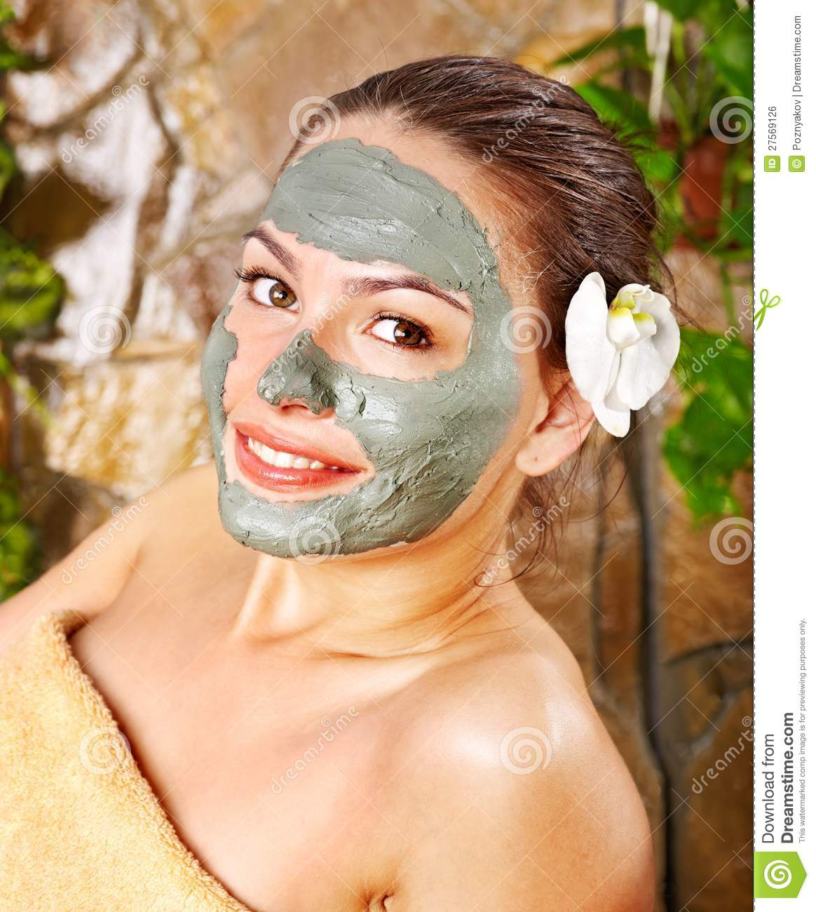 Apply facial mask