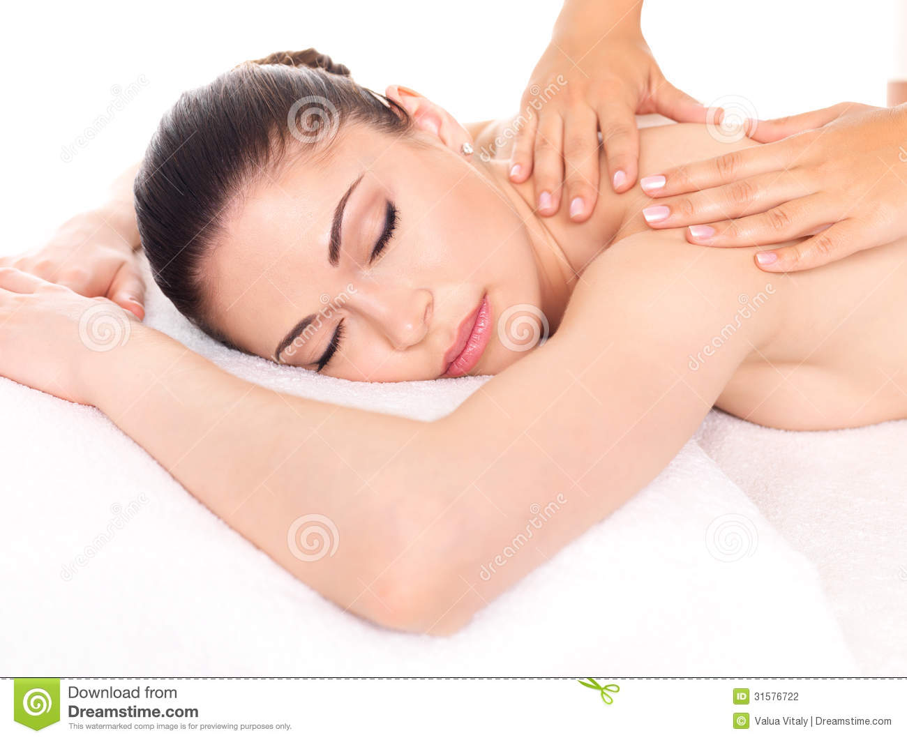 Woman having massage of body in spa salon stock photo image of care massaging 31576722 - Salon massage body body paris ...