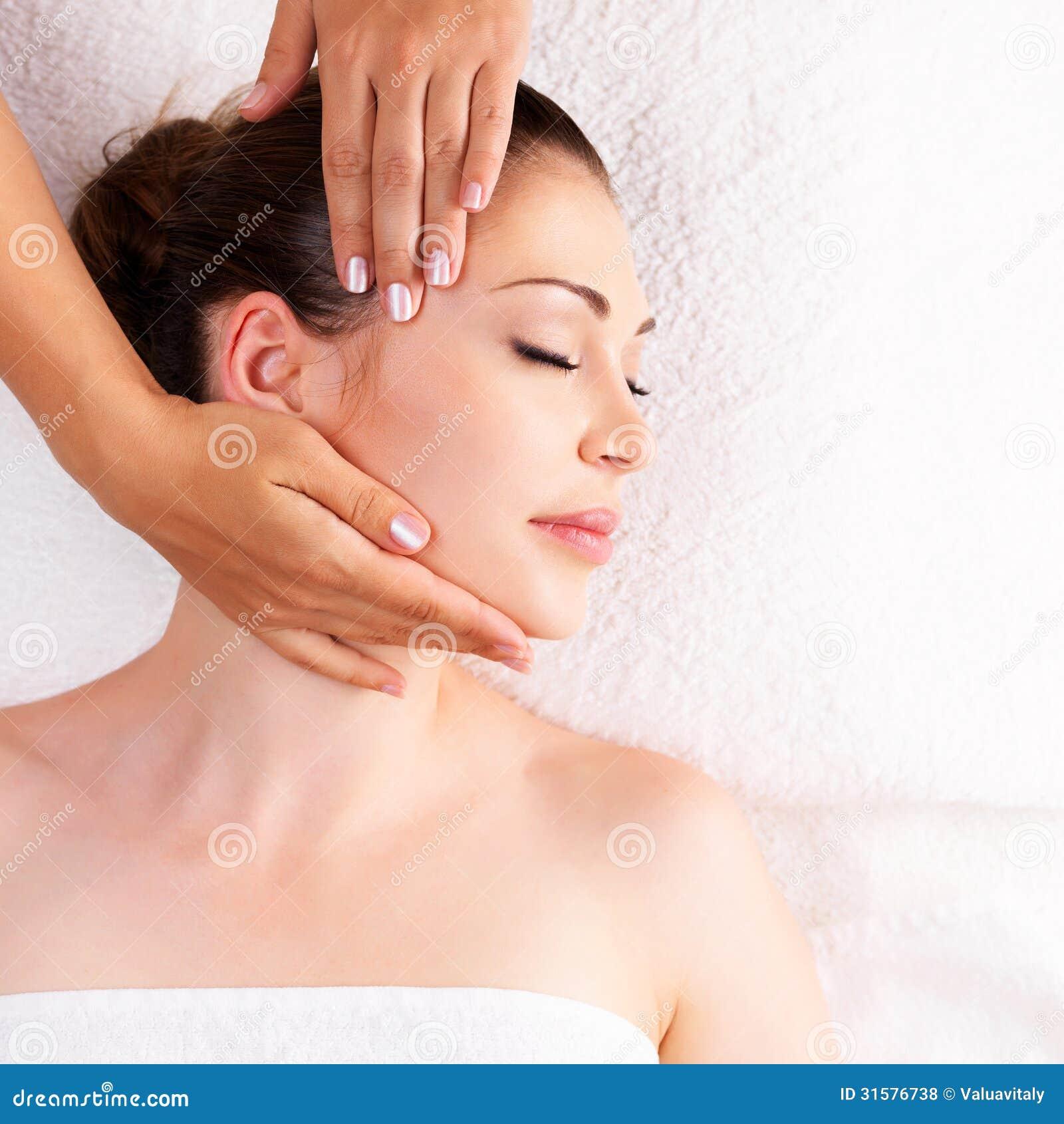 photo asian woman having massage salon beauty treatment concept