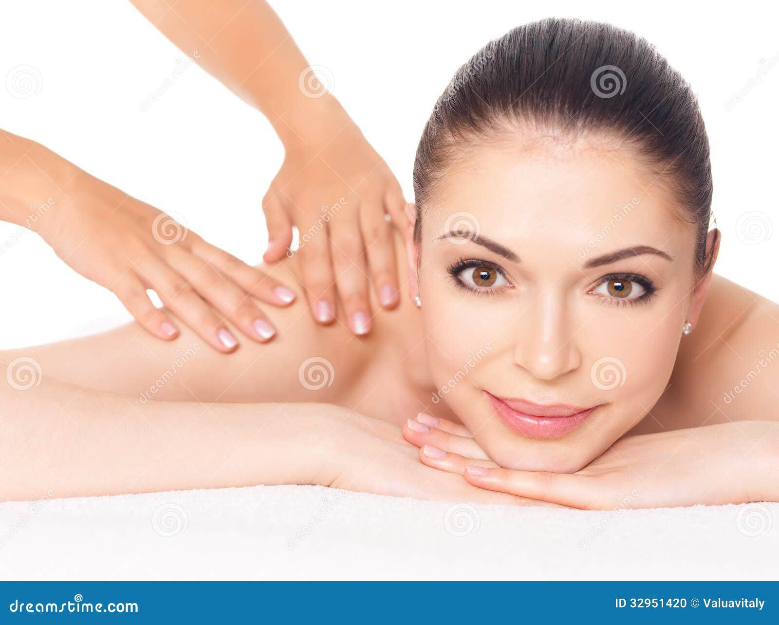 woman having massage of body in spa salon stock photo image 32951420. Black Bedroom Furniture Sets. Home Design Ideas