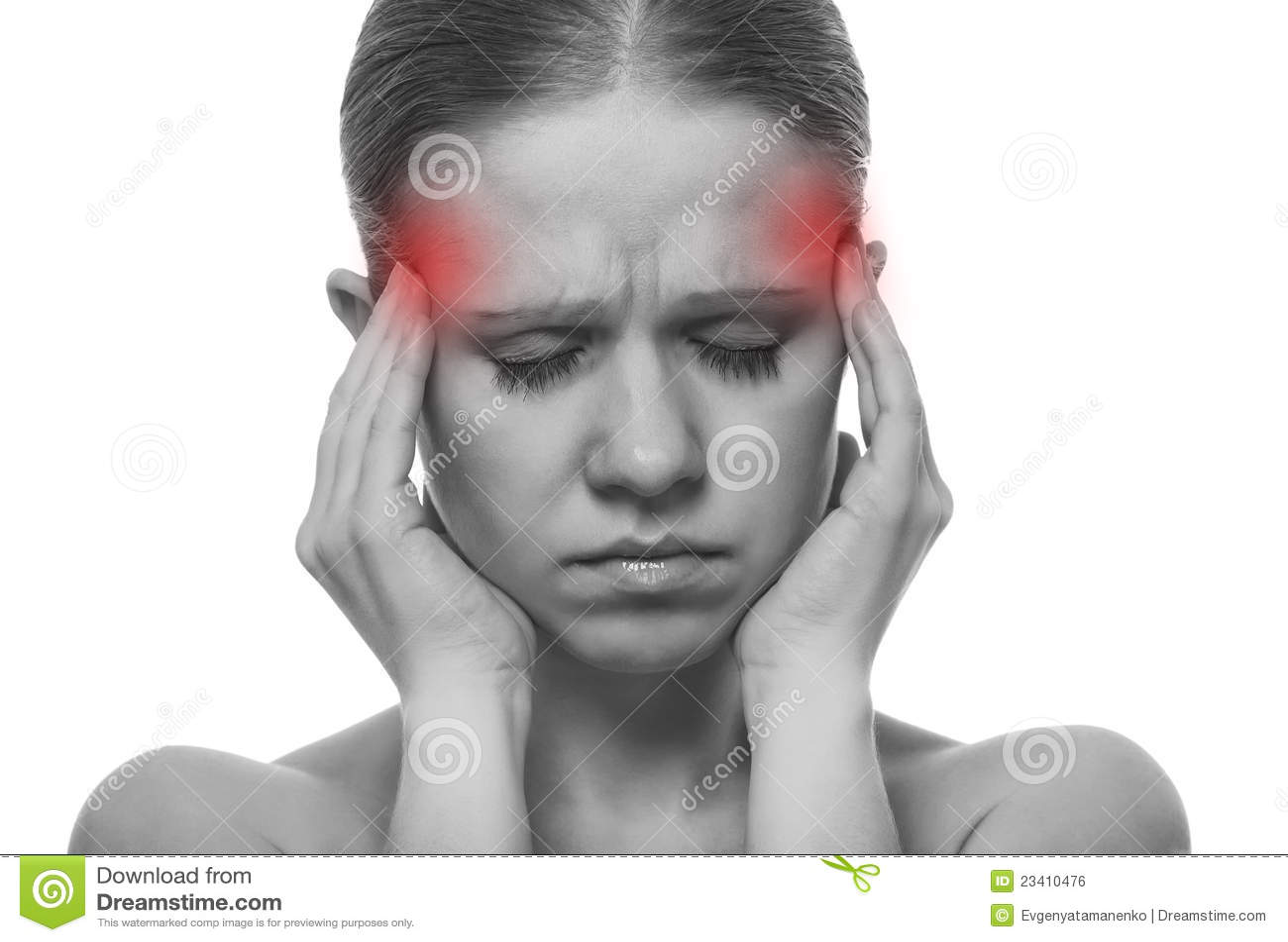 Woman having a migraine