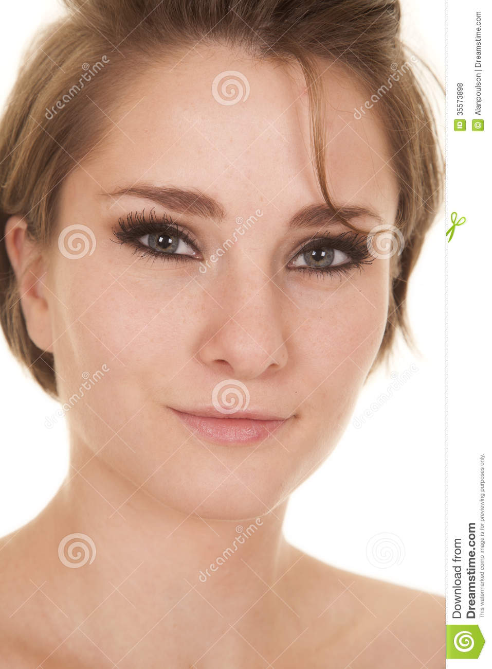 Woman Head Close Smile Short Hair Royalty Free Stock Photos - Image ...