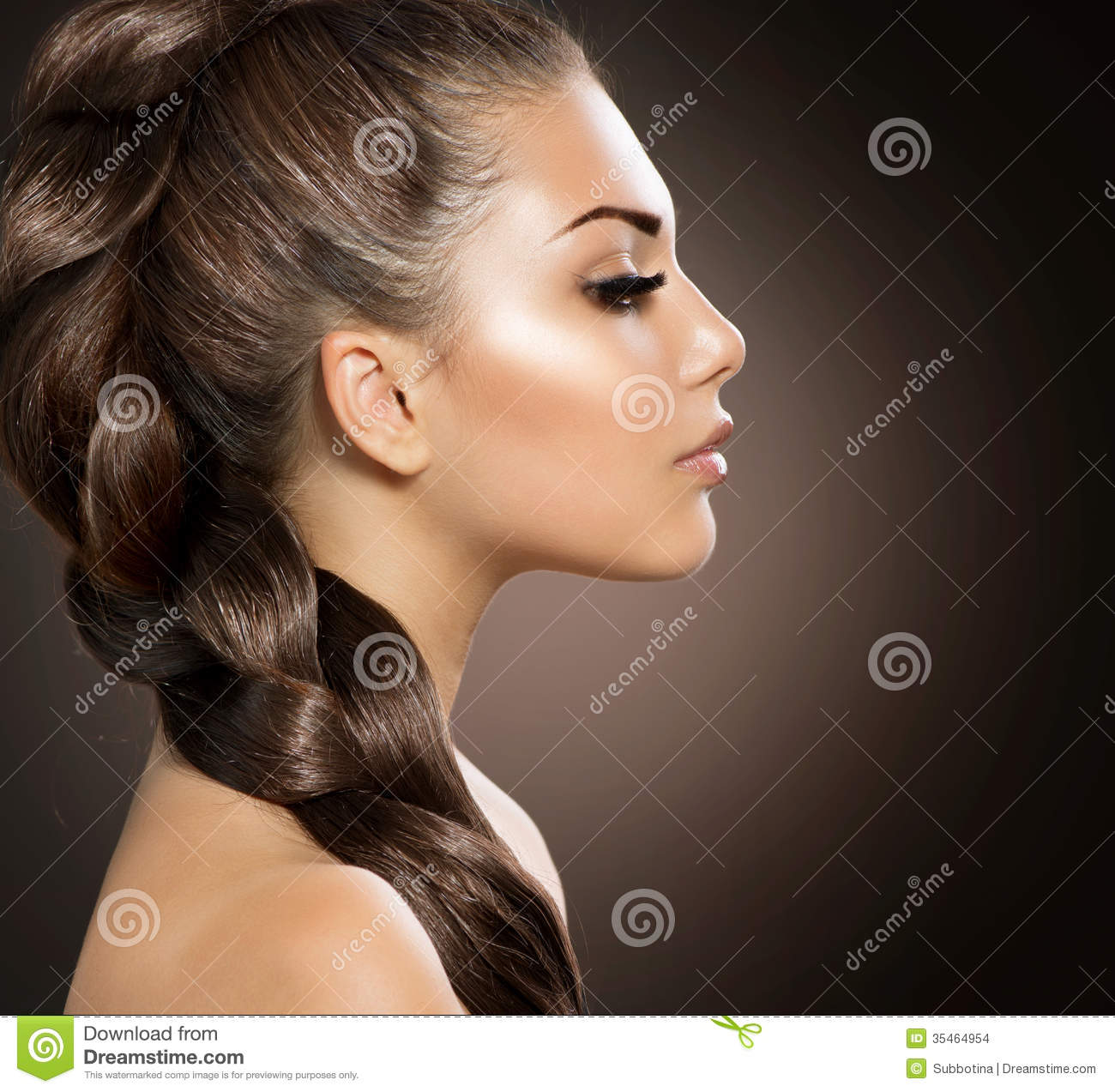 Woman With Healthy Long Braid Stock Images Image 35464954