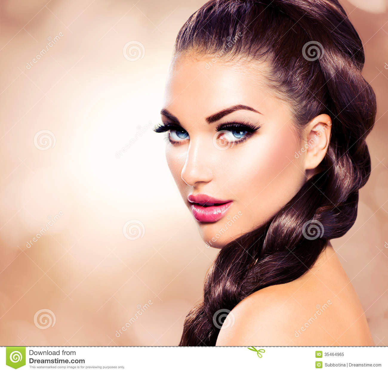 Woman With Healthy Long Braid Stock Image Image 35464965