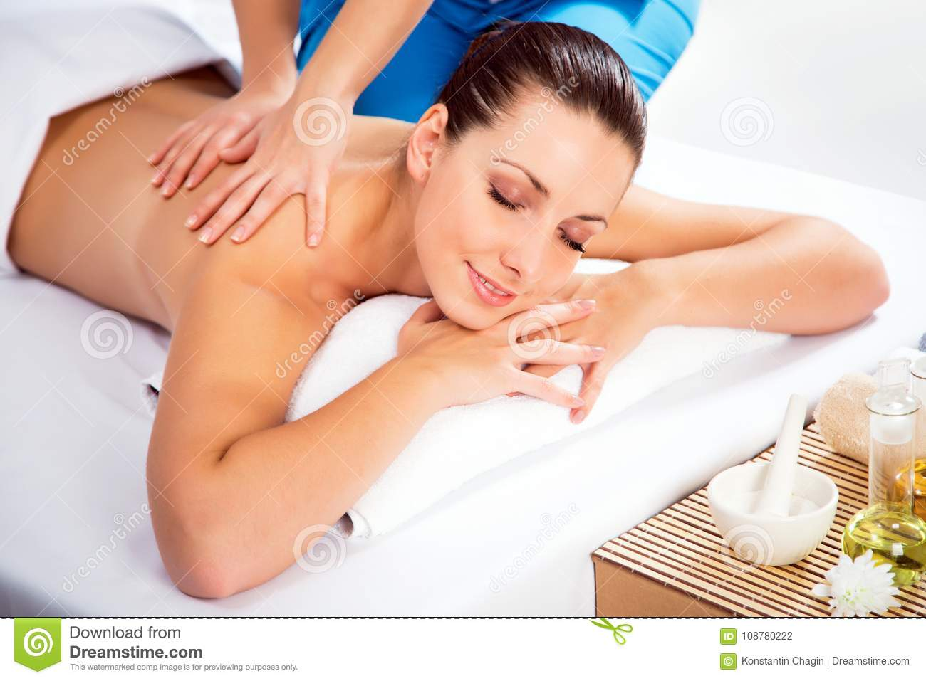 Woman On Healthy Massage Of Body Stock Photo - Image of