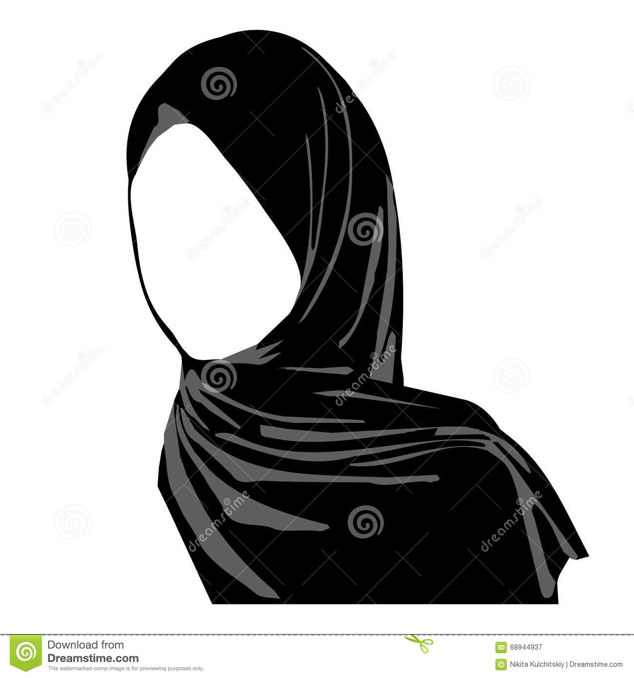 woman hijab silhouette stock vector illustration of