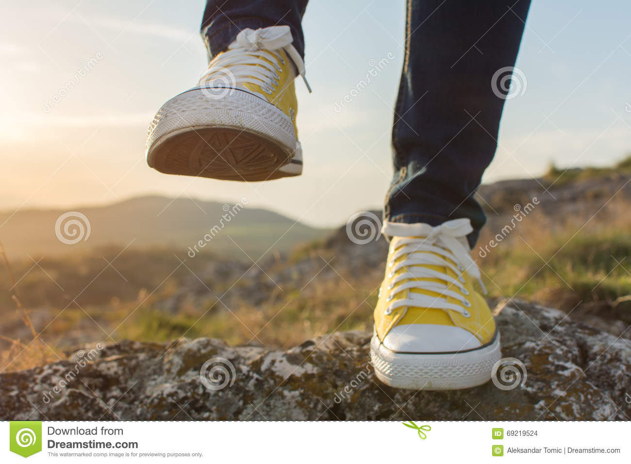 Woman On A Hiking Trip Close Up Royalty-Free Stock ...