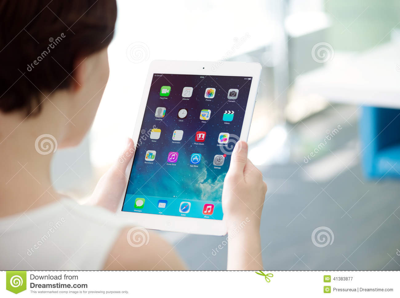 Woman Holding Apple Ipad Air Editorial Photography Image