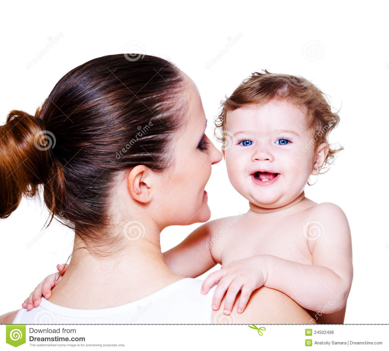 Woman Holding Baby Royalty Free Stock Image - Image: 24502496