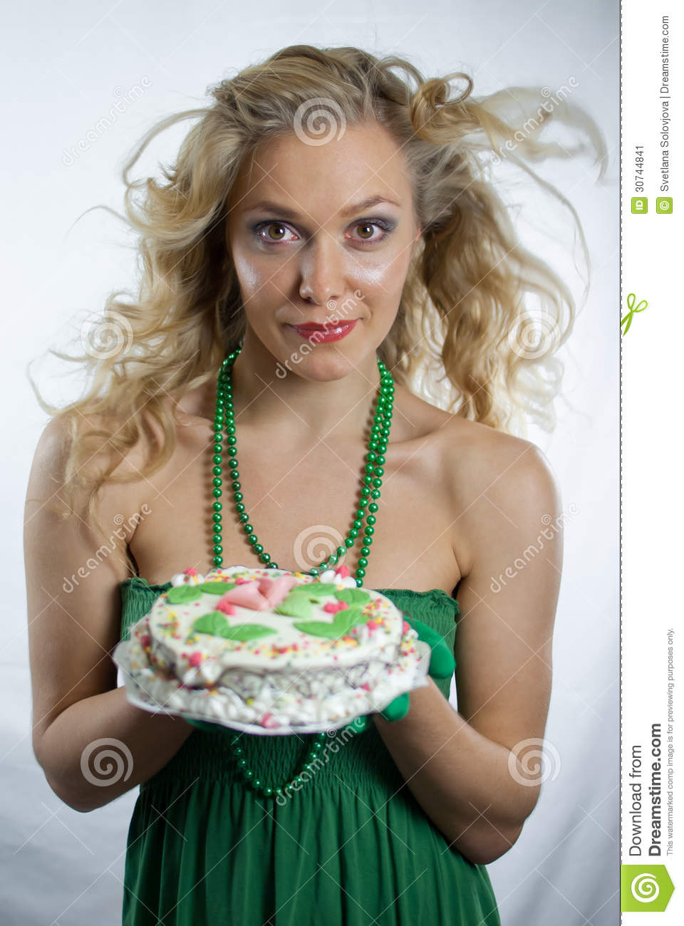 Image Result For Woman Holding A Birthday Cake