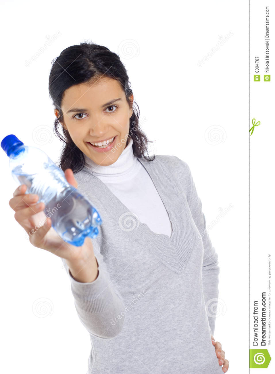 Woman Holding Bottle Royalty Free Stock Photography ...