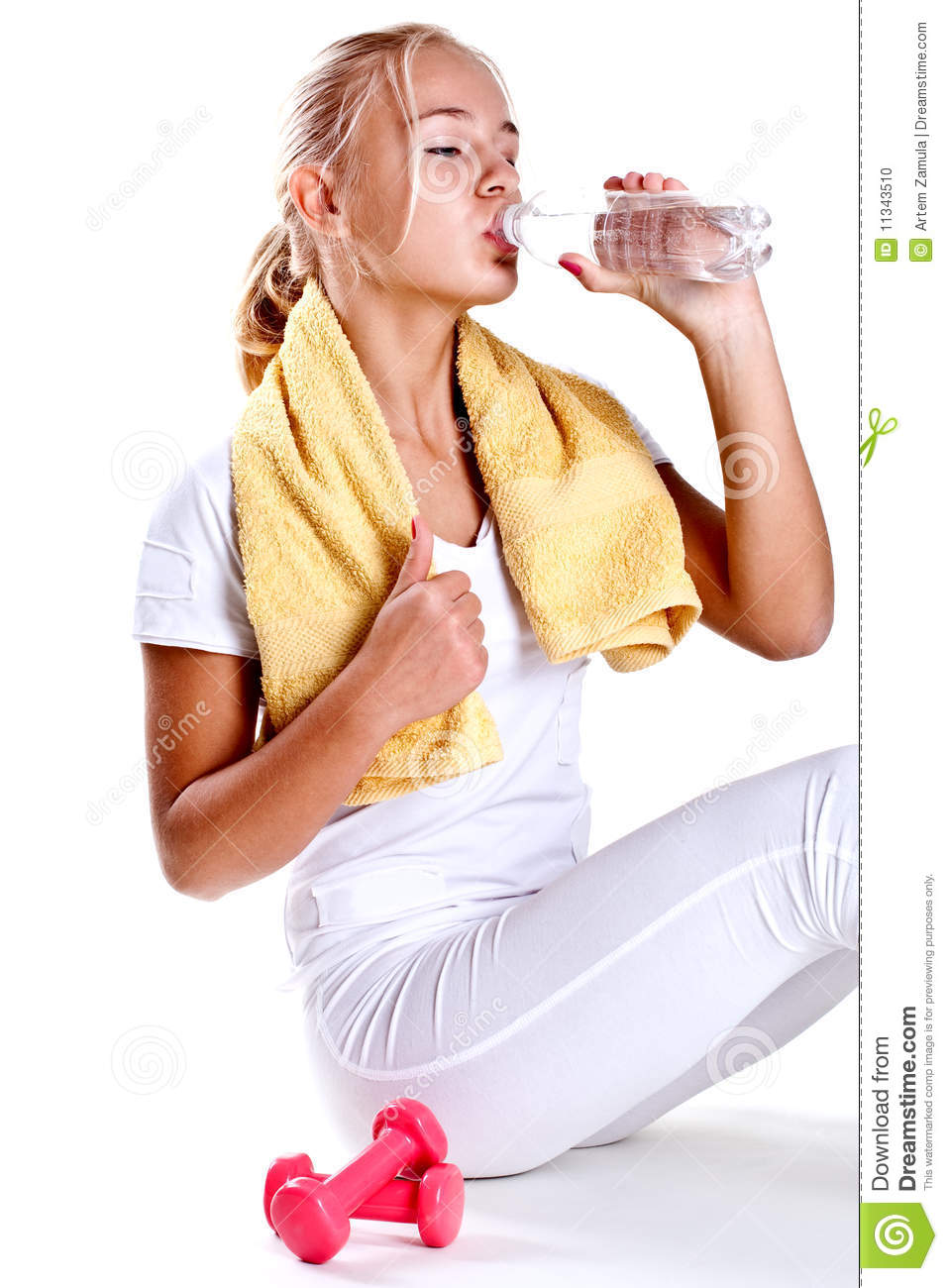 Woman Holding A Bottle Of Water Stock Photo - Image: 11343510