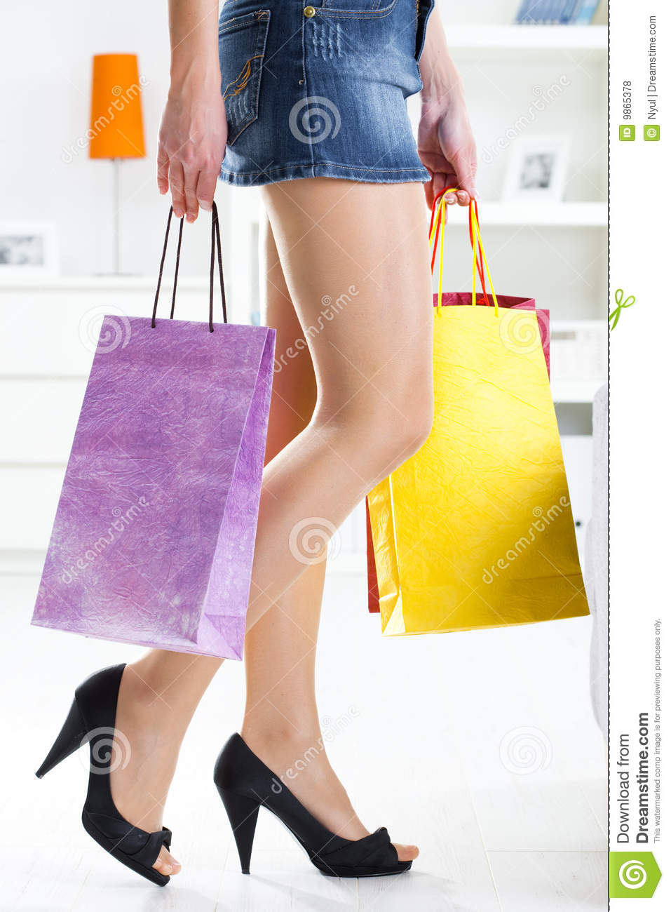 Beautiful Woman Holding Shopping Bag With Vegetarian Grocery Stock Image - Image Of Eating Customer 19119833
