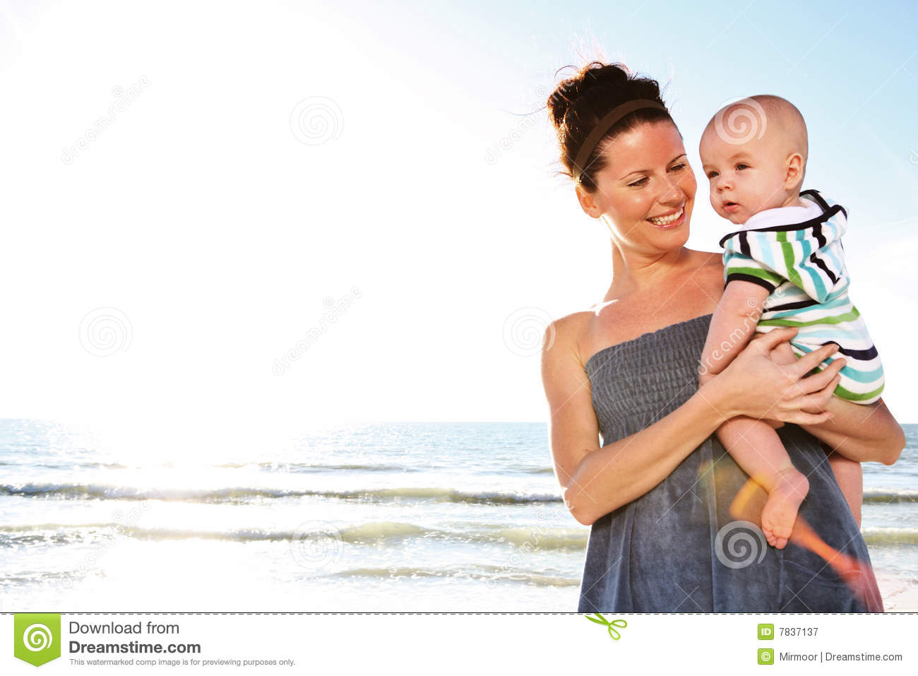 Woman Holding Cute Child. Royalty Free Stock Photography ...