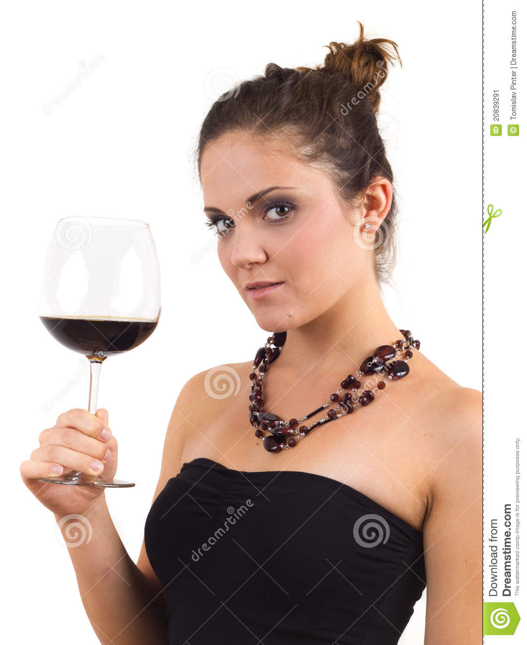 Woman Holding A Glass Of Wine Stock Image - Image: 20839291