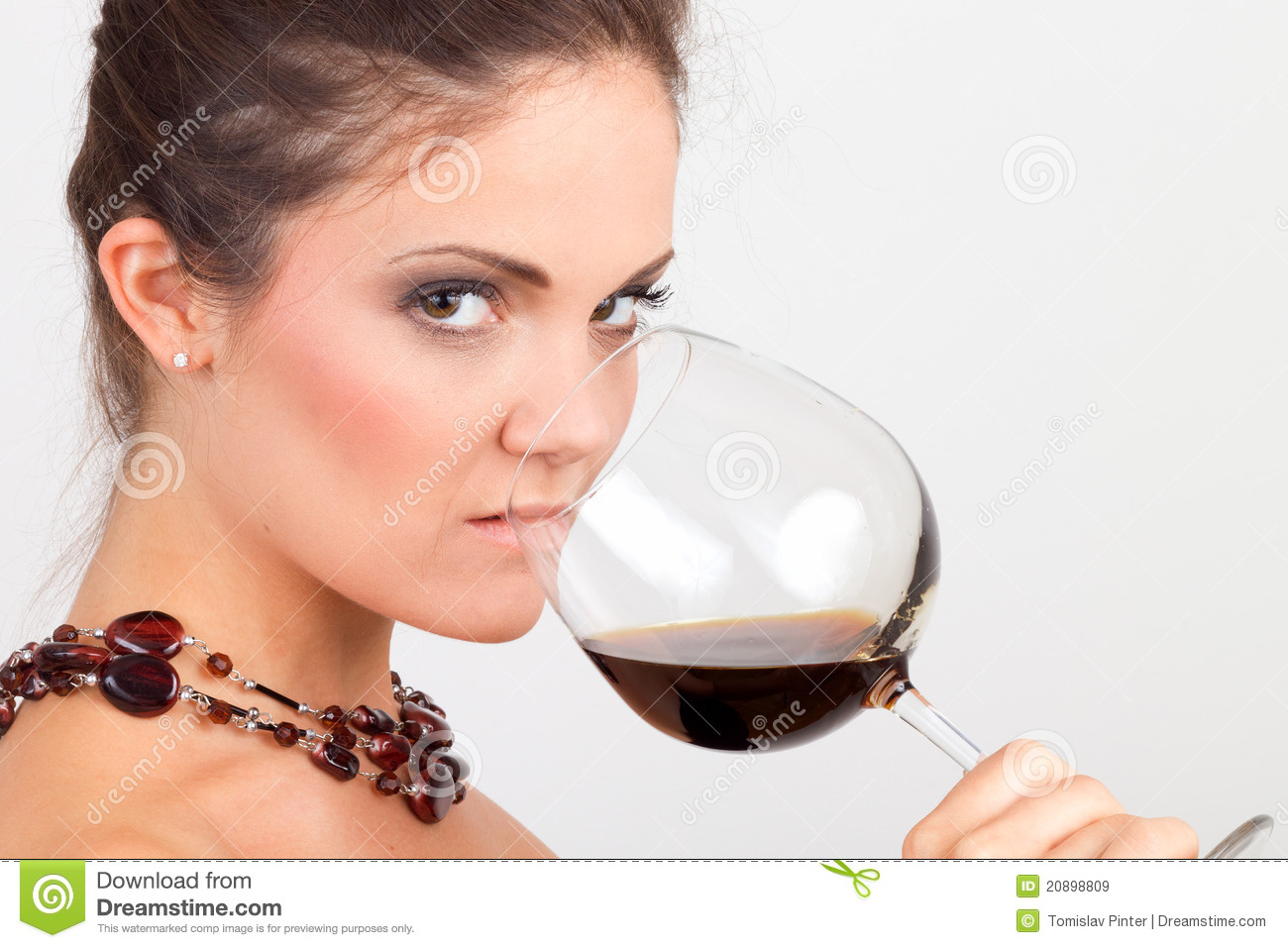 Woman Holding A Glass Of Wine Royalty Free Stock Images ...