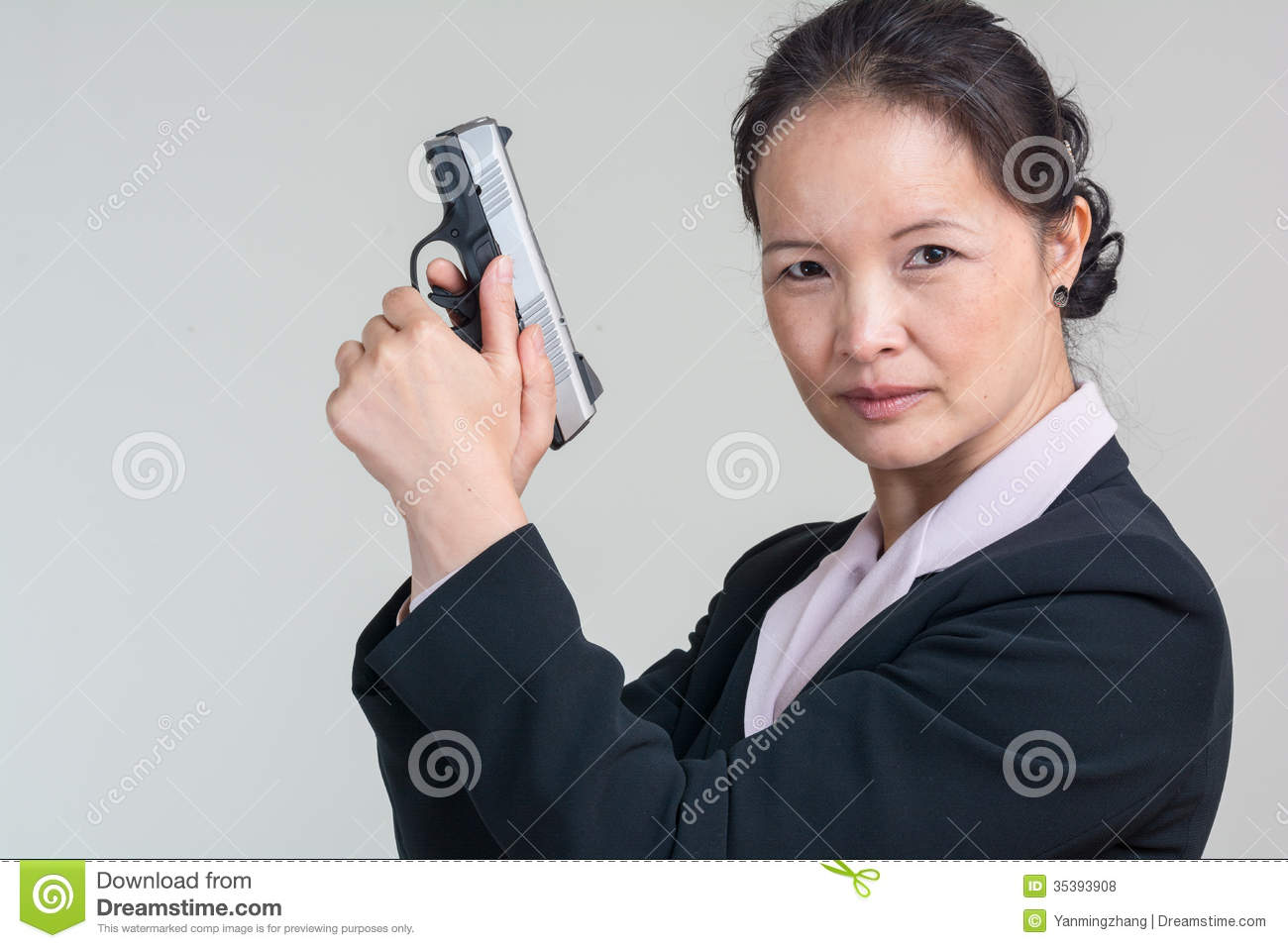 Woman Holding A Hand Gun Royalty Free Stock Photos - Image ...