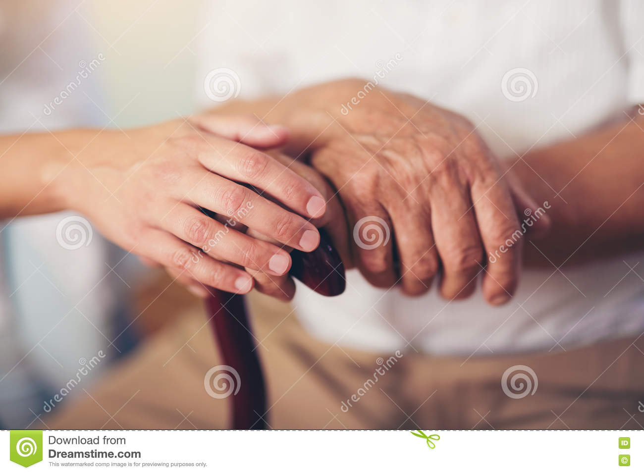 Hand Holding Stick ~ Old man walking stick stock photos images