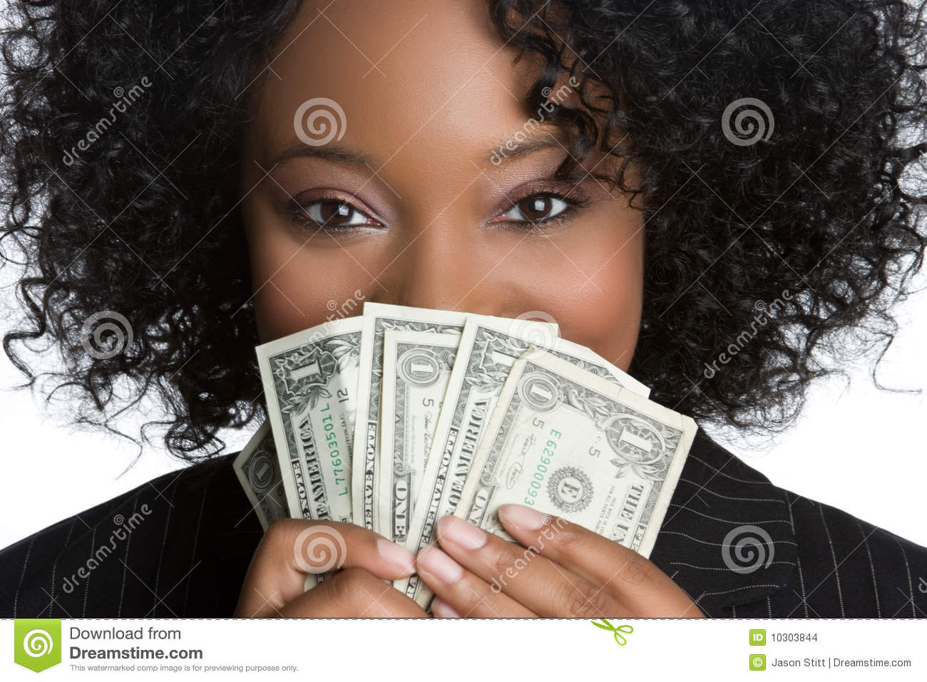 Woman Holding Money Stock Images - Image: 10303844