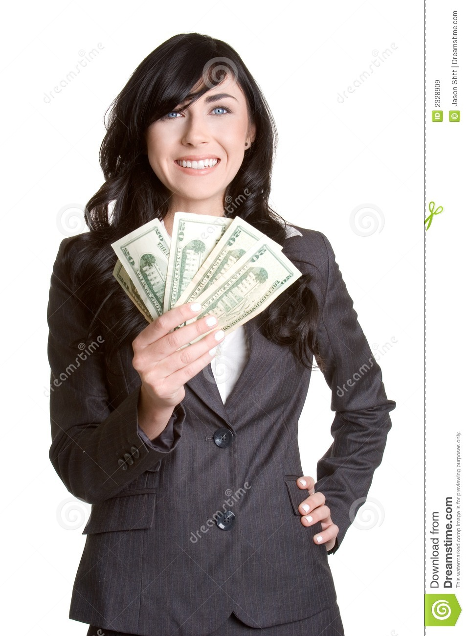 Woman Holding Money Royalty Free Stock Images - Image: 2328909