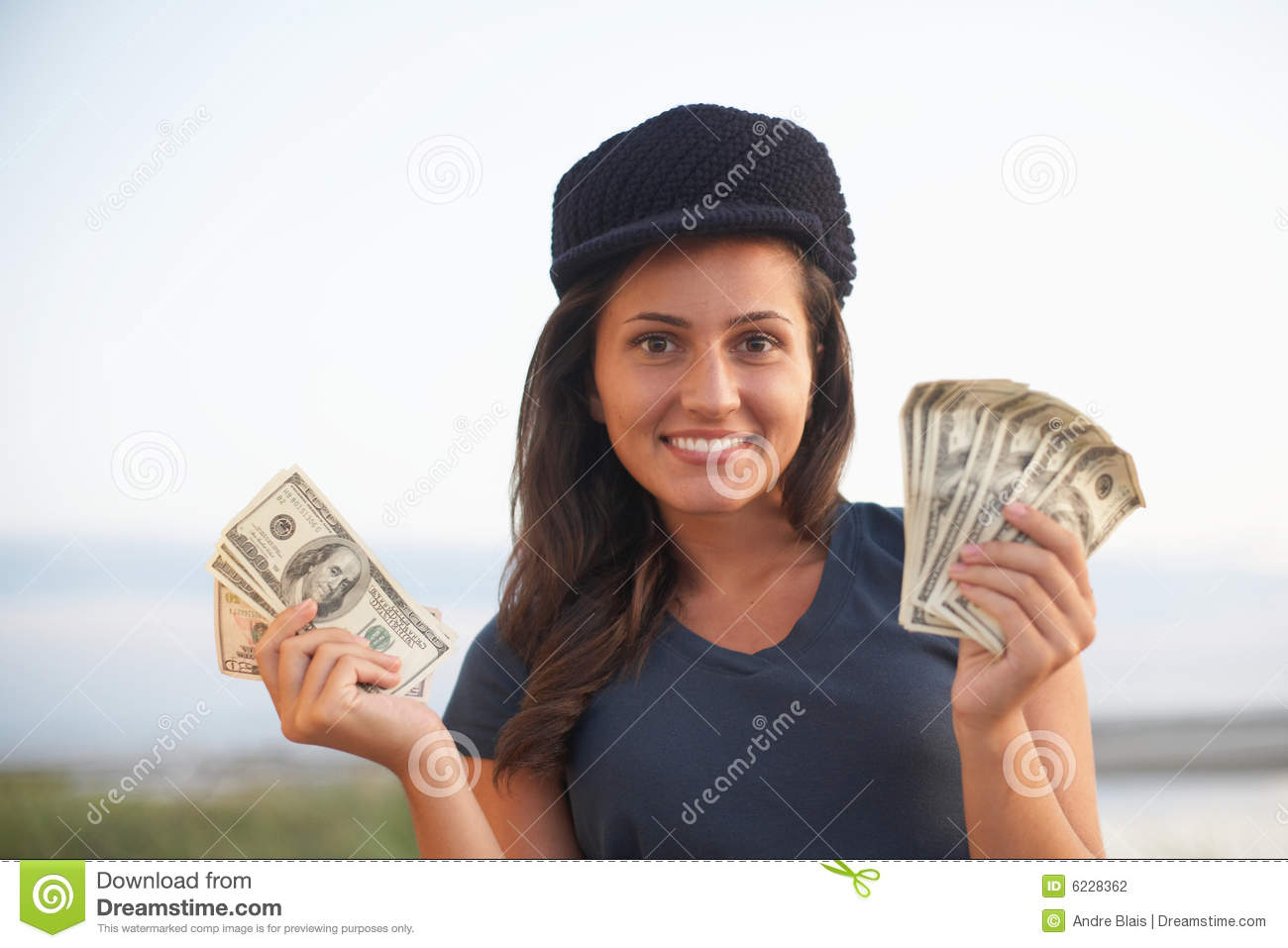 Woman Holding Money Stock Photography - Image: 6228362