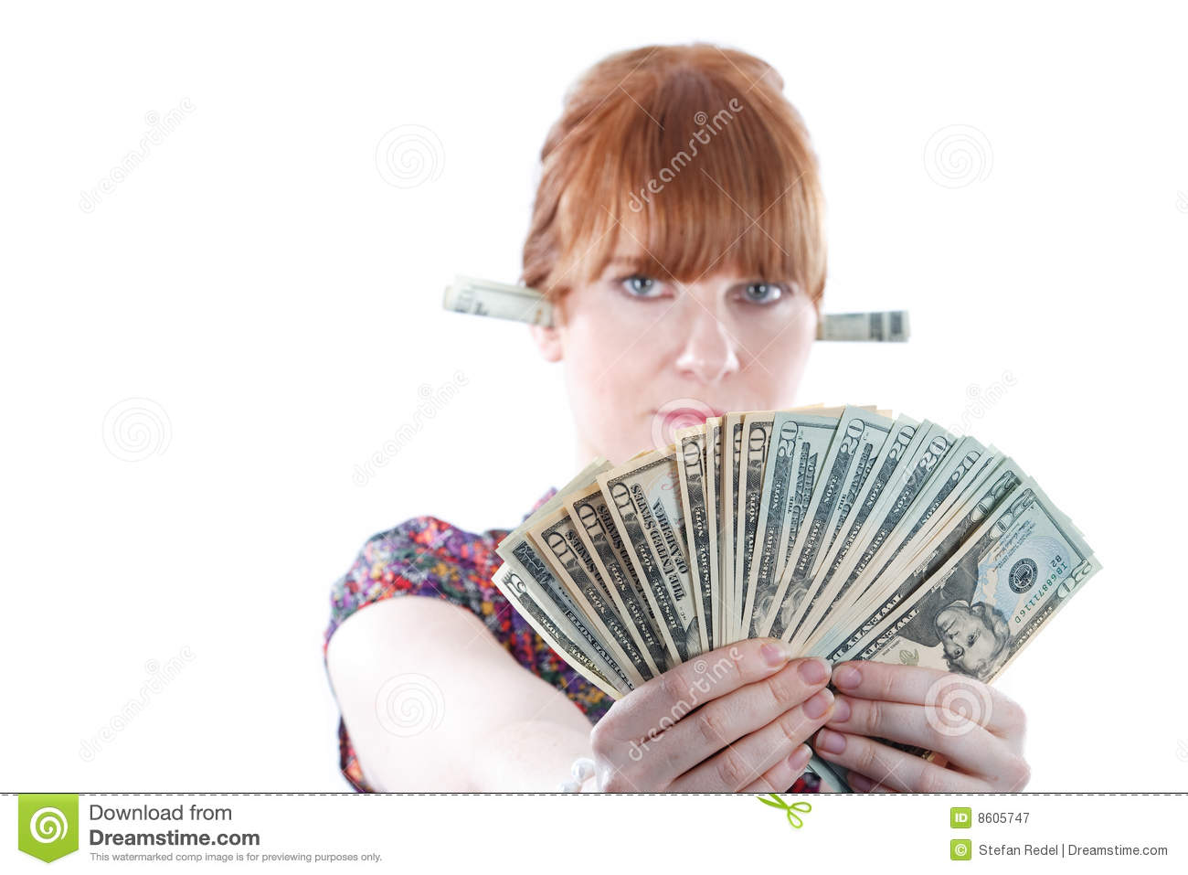 Woman Holding Money Royalty Free Stock Photography - Image ...
