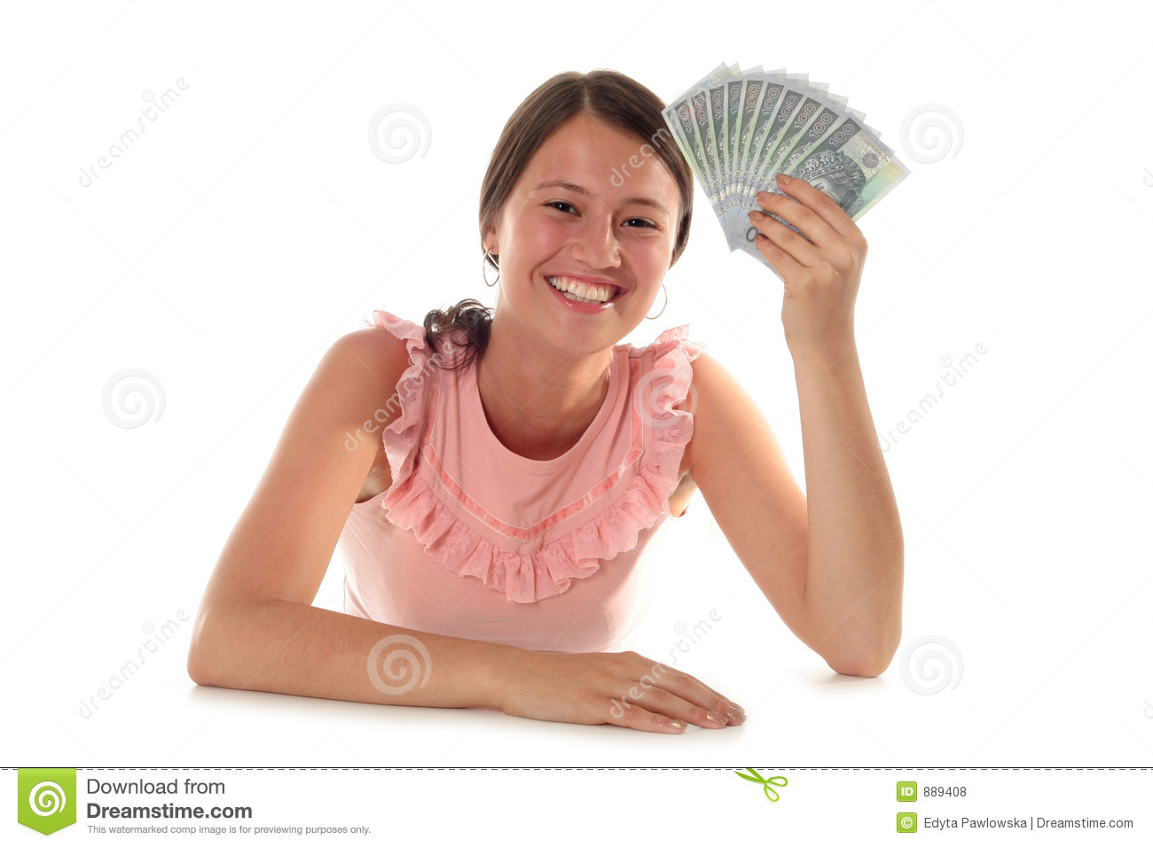 Woman Holding Money Royalty Free Stock Photos - Image: 889408