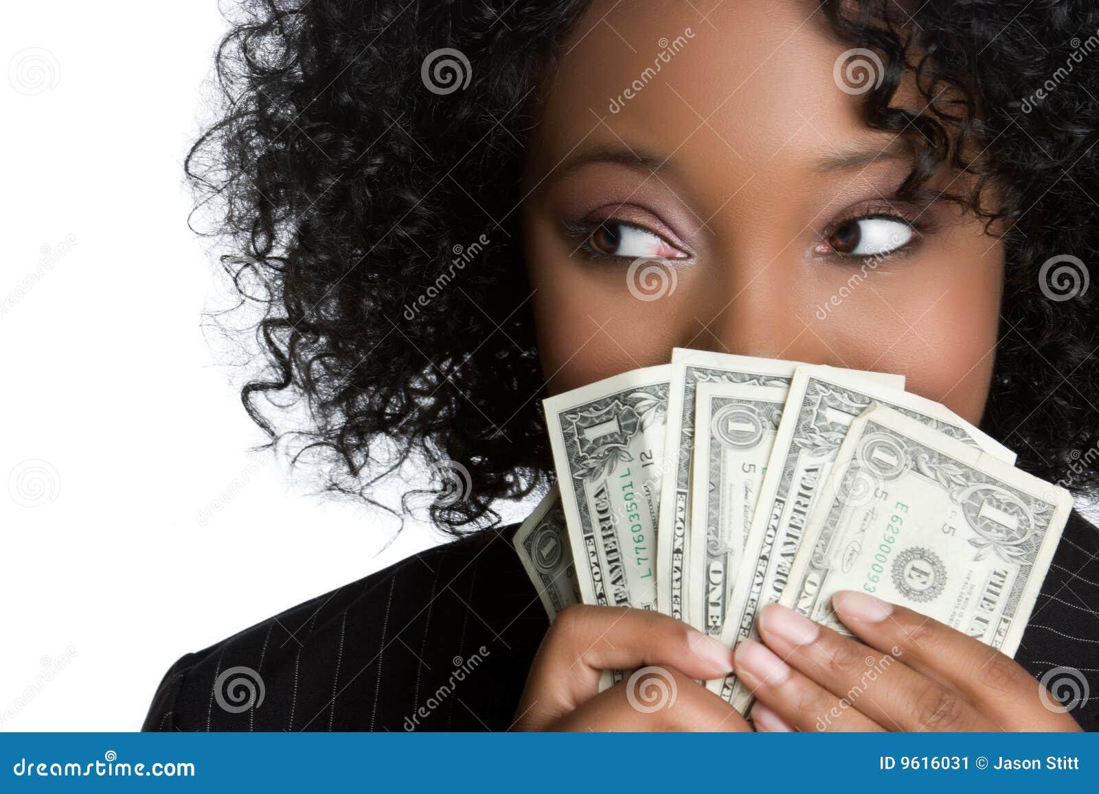 Woman Holding Money Stock Image - Image: 9616031
