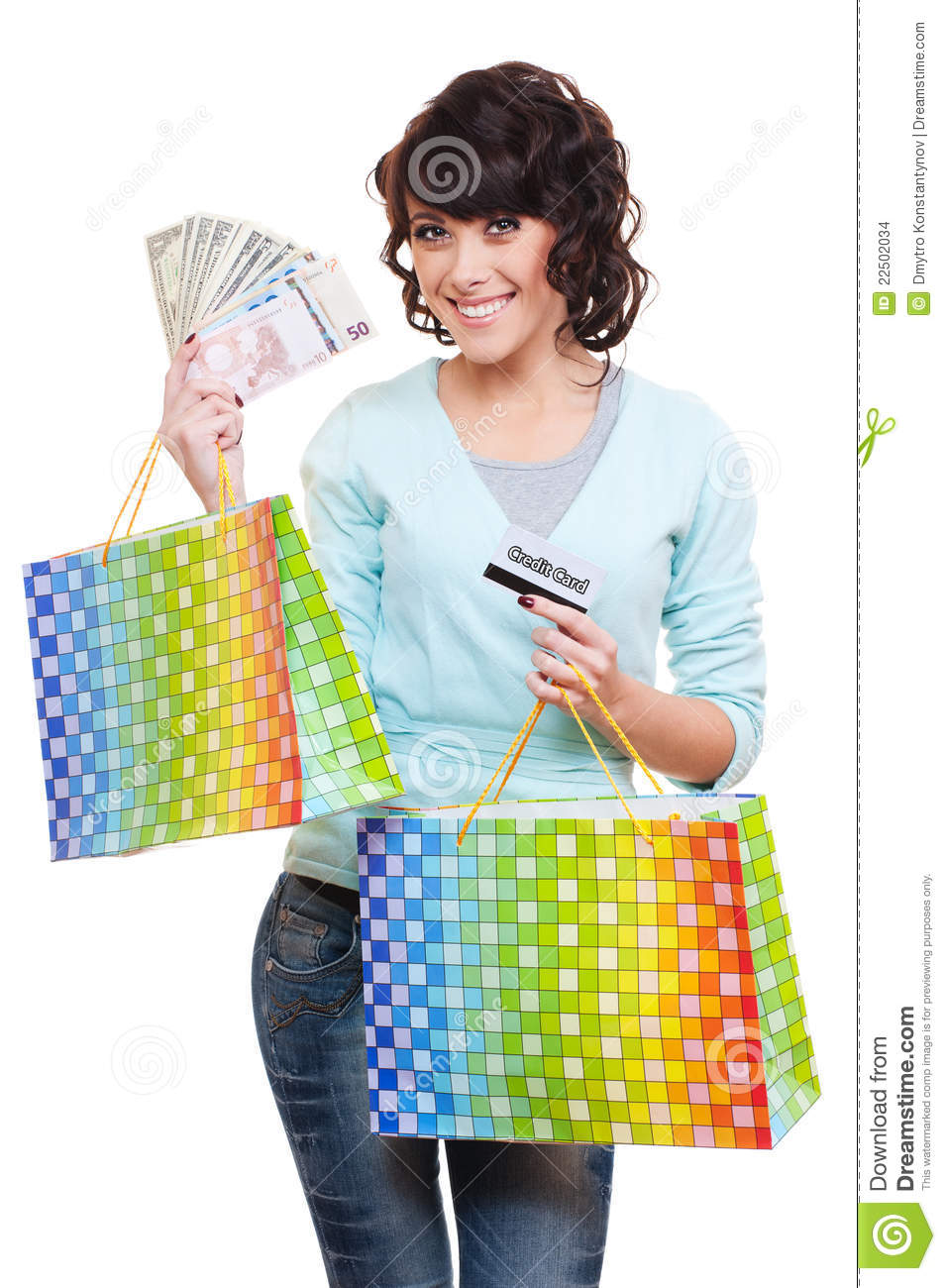Cool Young Woman Holding A Grocery Bag Stock Photo - Image 11863020