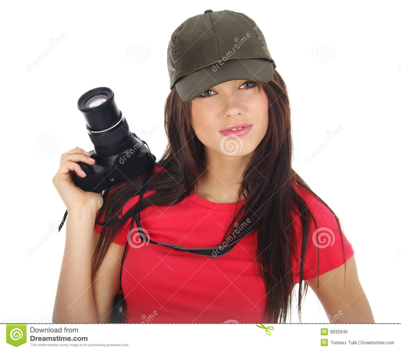 Woman Holding A Photo Camera Royalty Free Stock Image ...