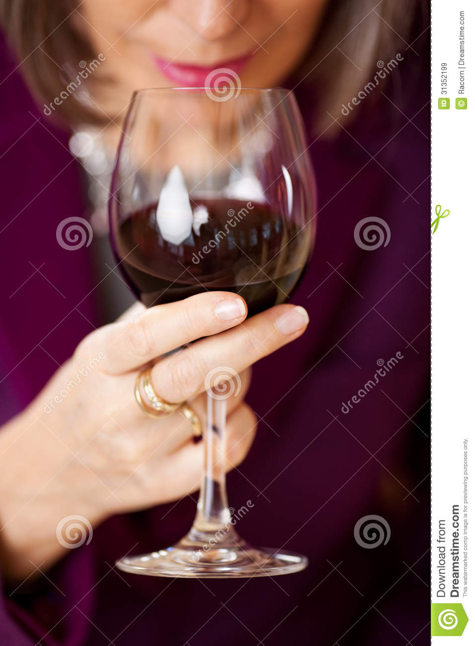 Woman Holding Red Wine Glass Royalty Free Stock Images ...