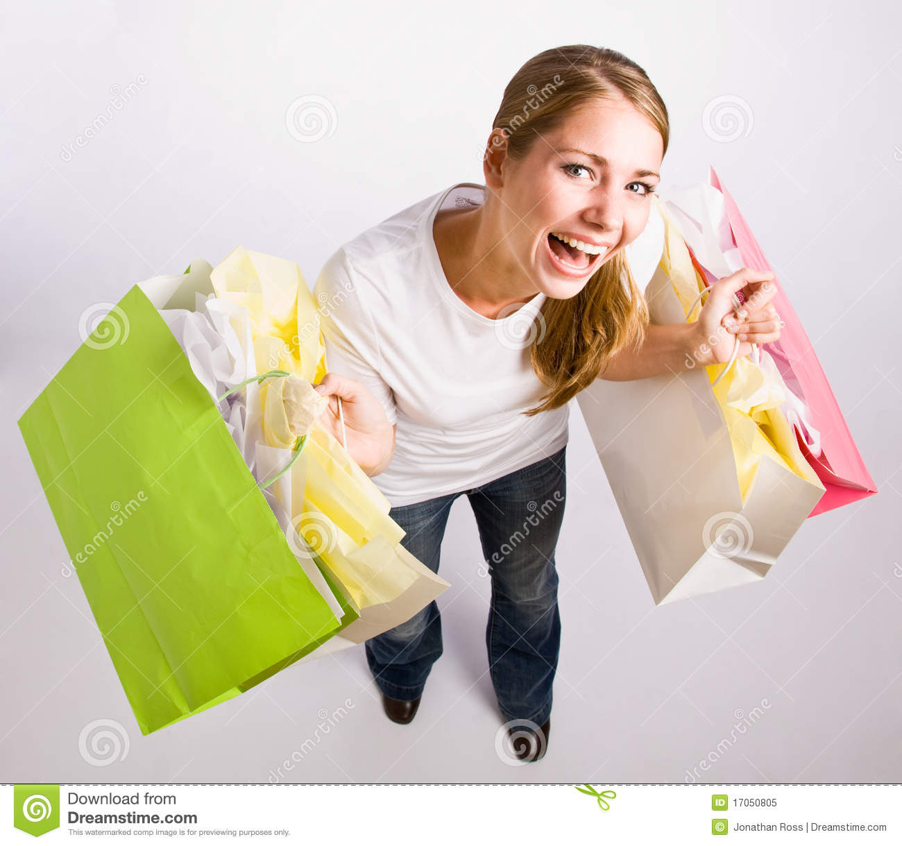 Elegant Woman Holding Large Bag Of Healthly Groceries Stock Photo - Image 38991728