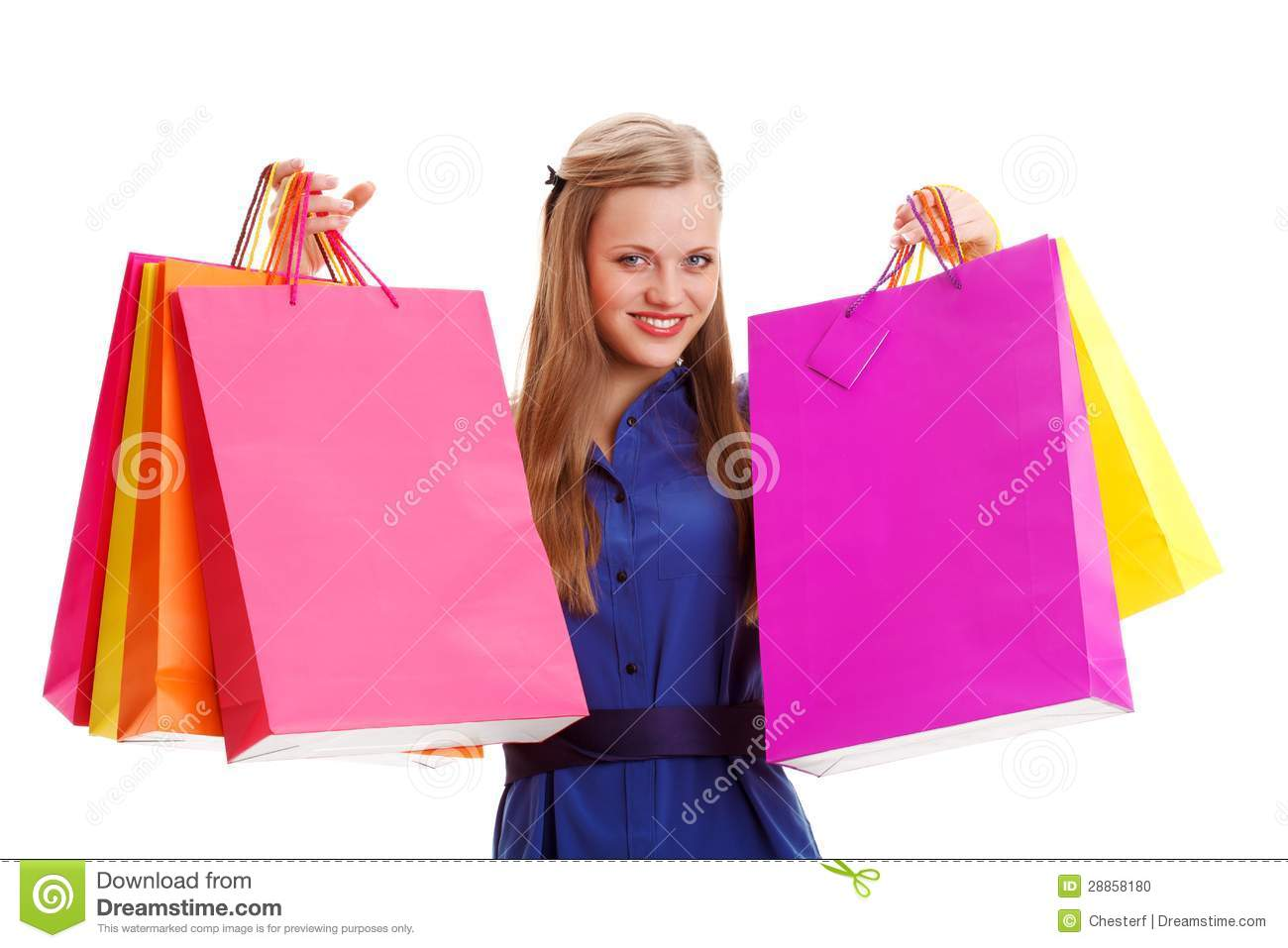 Perfect Royalty Free Stock Photos Woman Holding Shopping Bags. Image 6007478