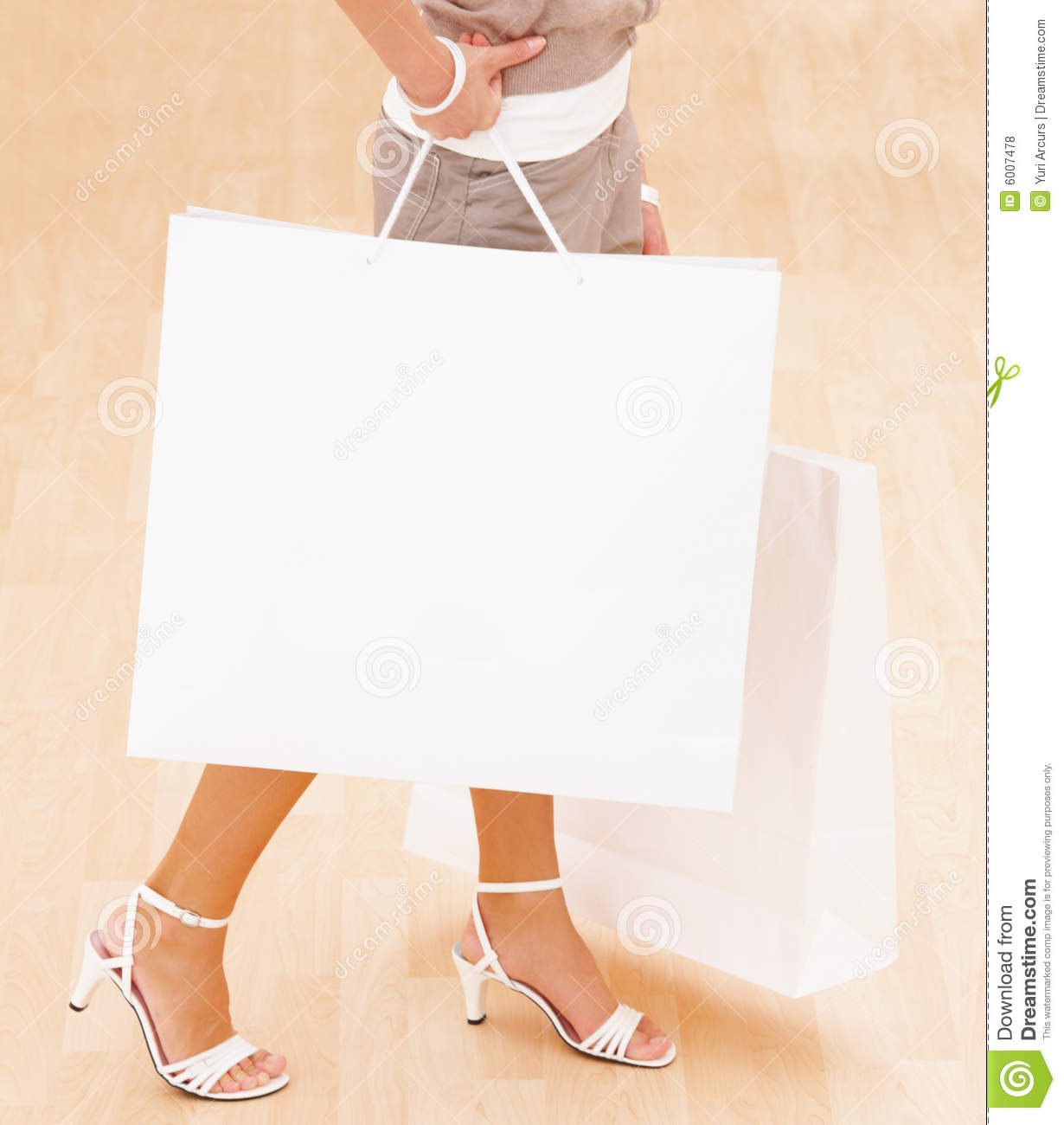 New Happy Woman Holding Shopping Bags Royalty-Free Stock Photo | CartoonDealer.com #16628673