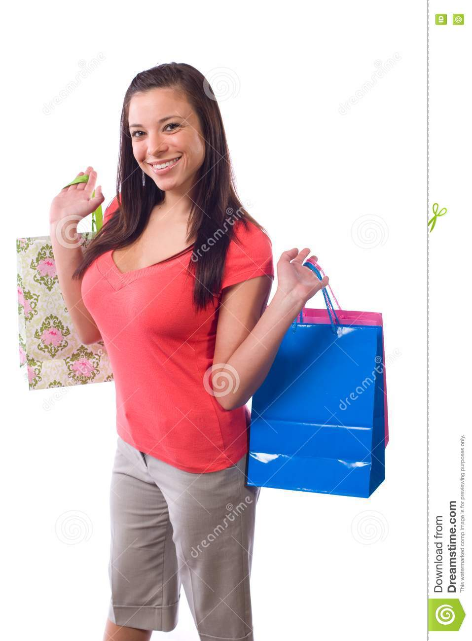 Lastest Woman Holding Paper Shopping Bag Stock Image - Image 34979189