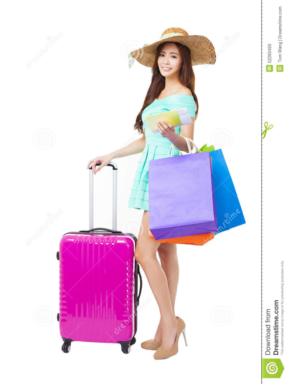 Luxury Woman Holding Money Shopping Bags Stock Photo - Image 22502034