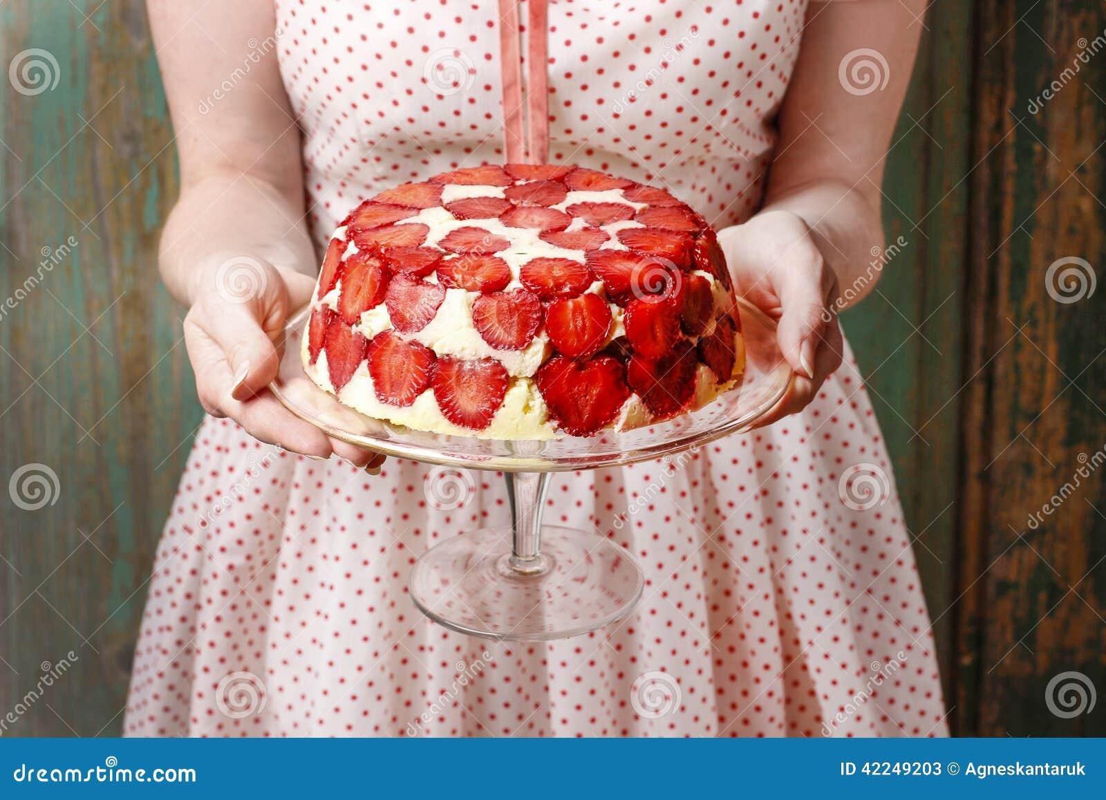 Strawberry Cake Stand