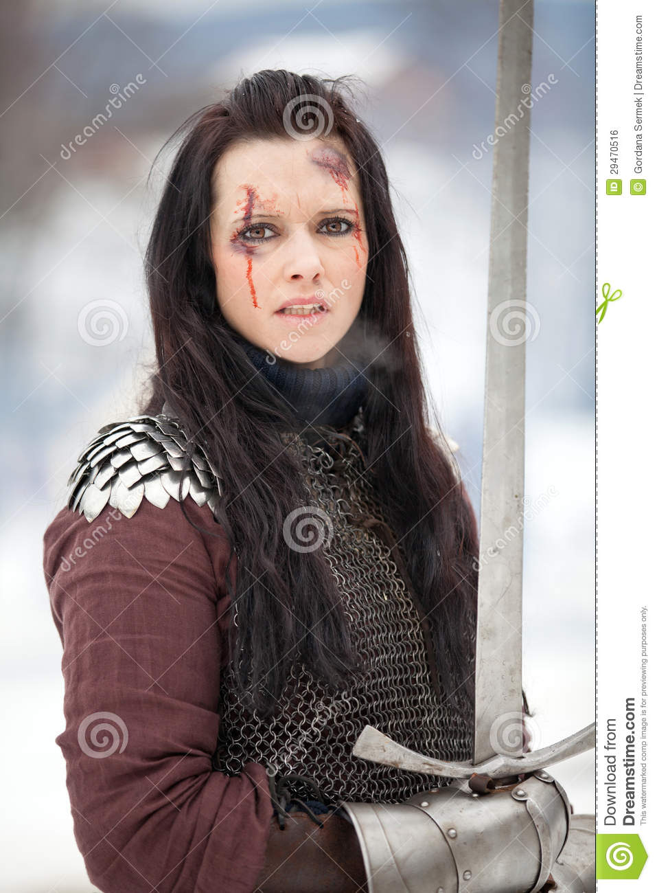woman holding sword - HD 957×1300