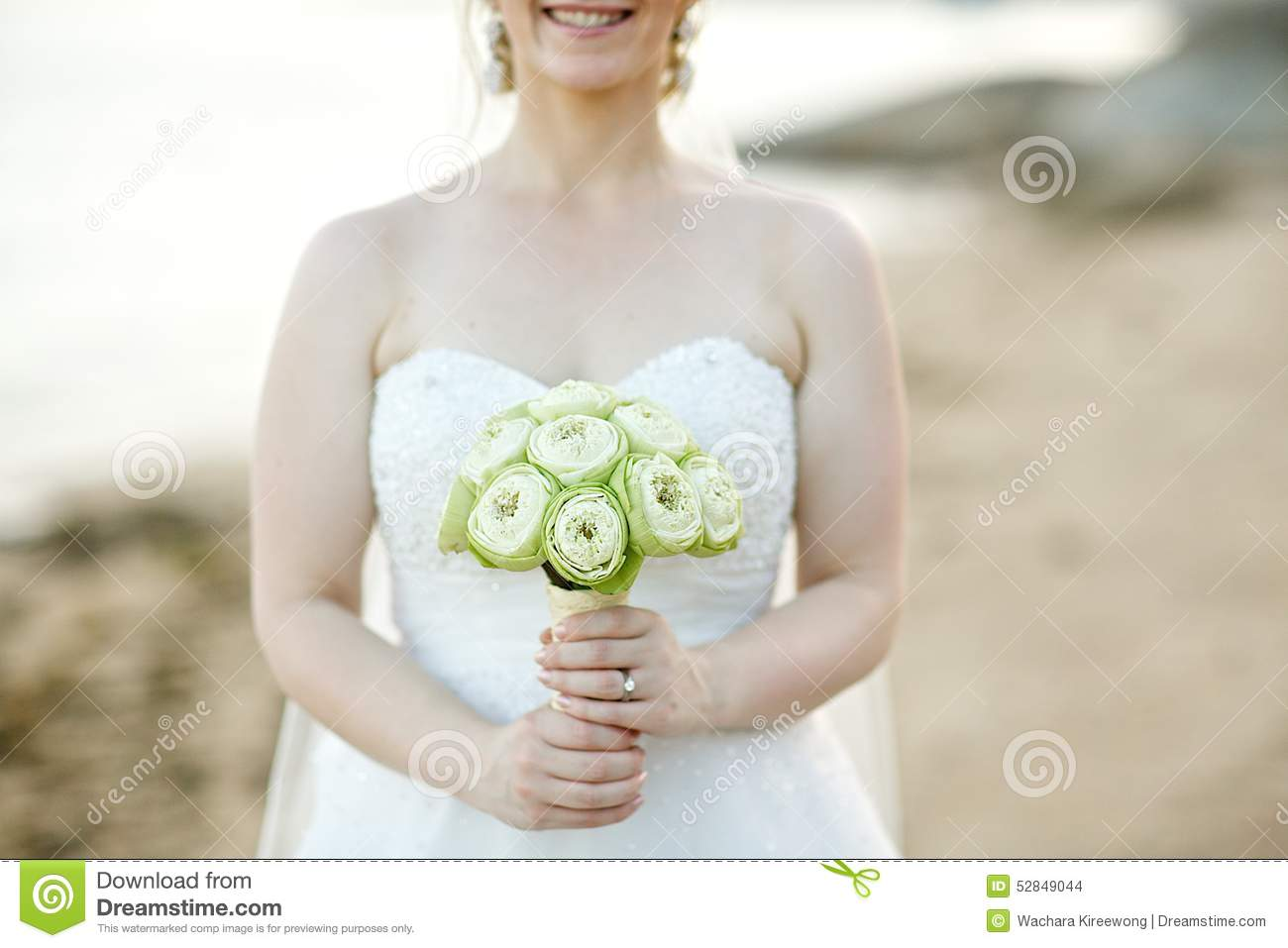Woman holding white lotus bouquet stock photo image 52849044 background bouquet bride flower holding lotus sea wedding dhlflorist Images
