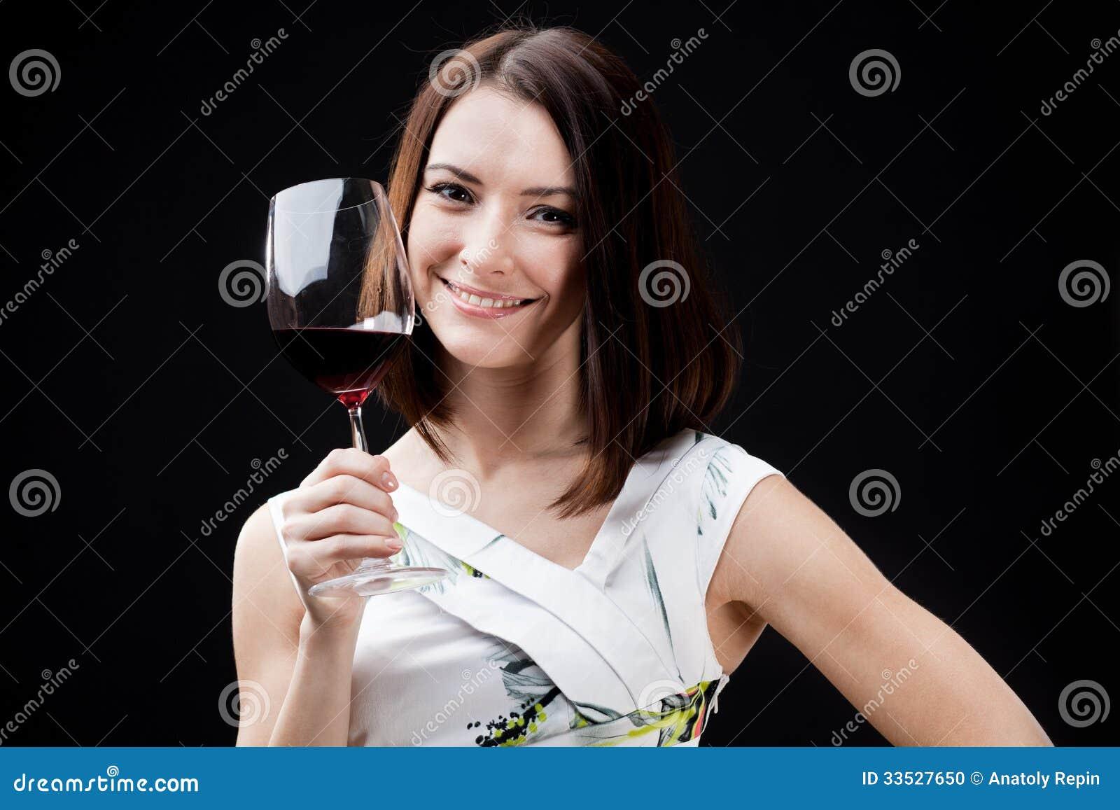 Woman Holding Wine Glass Stock Photo - Image: 33527650