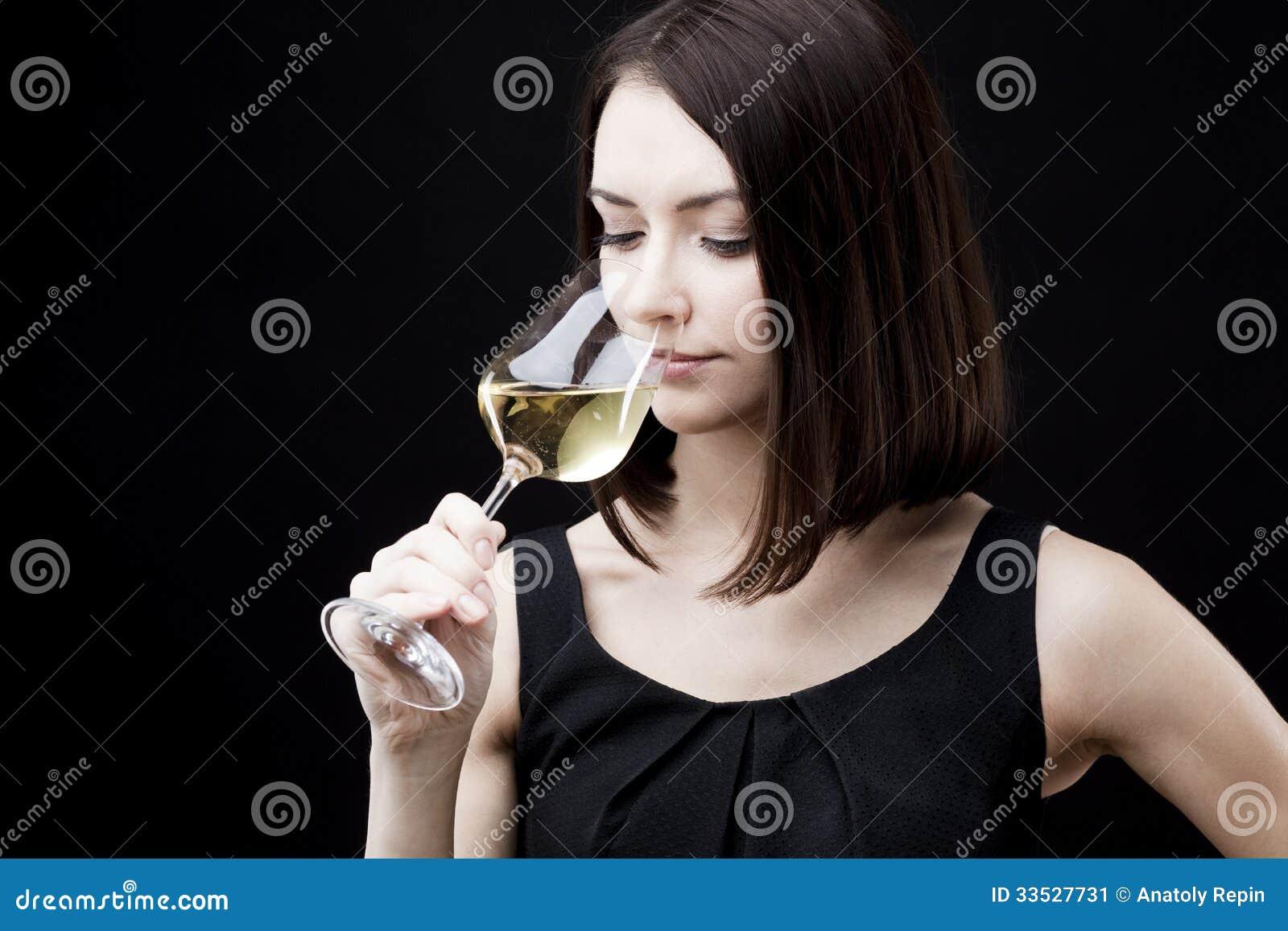 Woman Holding Wine Glass Stock Image - Image: 33527731
