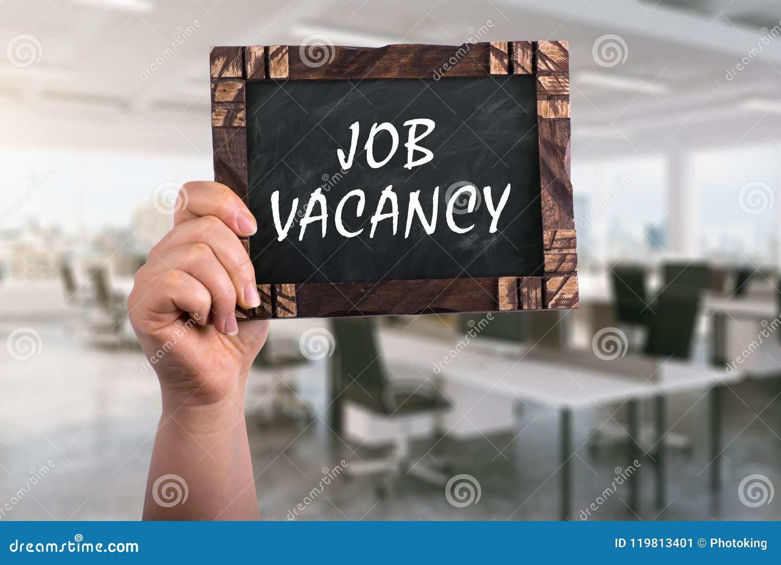 Job vacancy on chalkboard