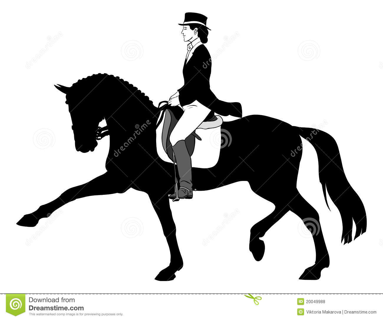 Woman horse dressage stock illustration illustration of for Immagini cavalli stilizzati